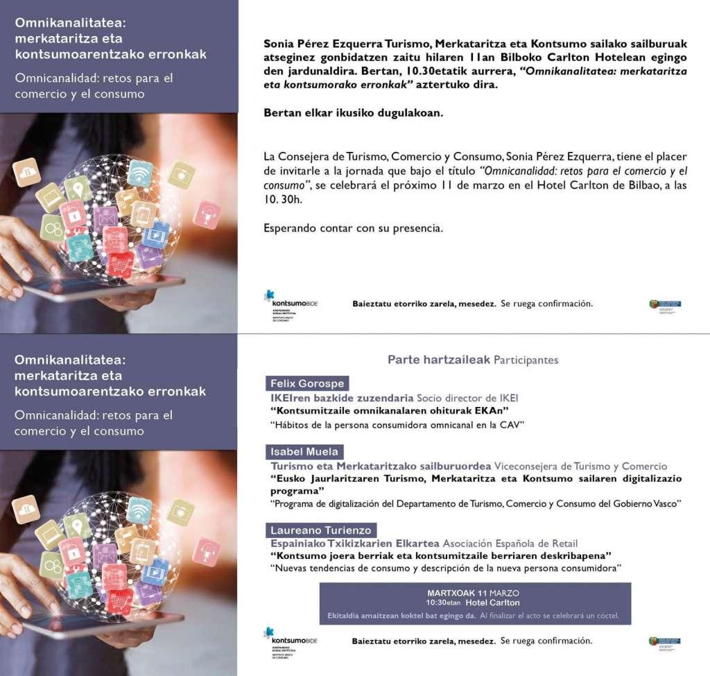 Invitación Omnicanalidad, retos para el comercio y el consumo